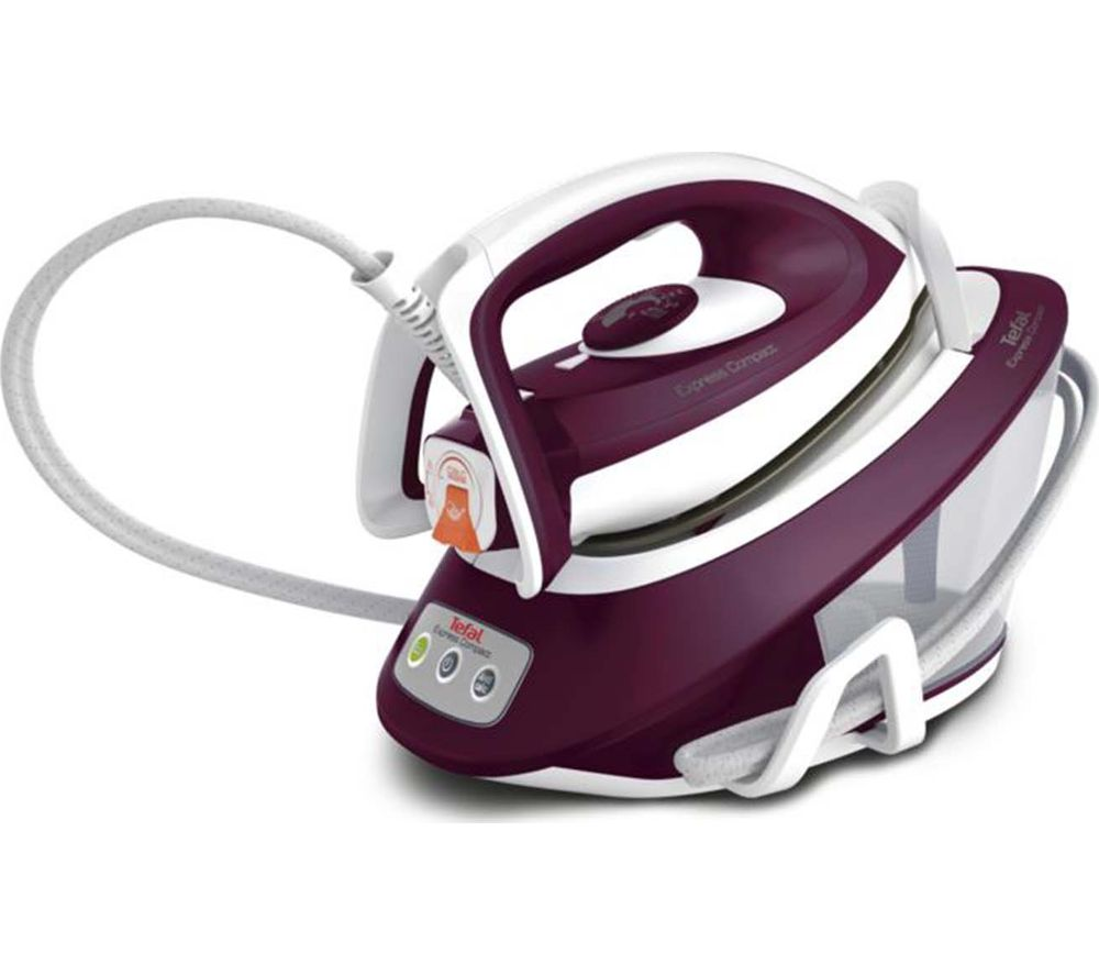 Image of Express Compact Anti-Scale SV7120 Steam Generator Iron - Purple & White, Purple