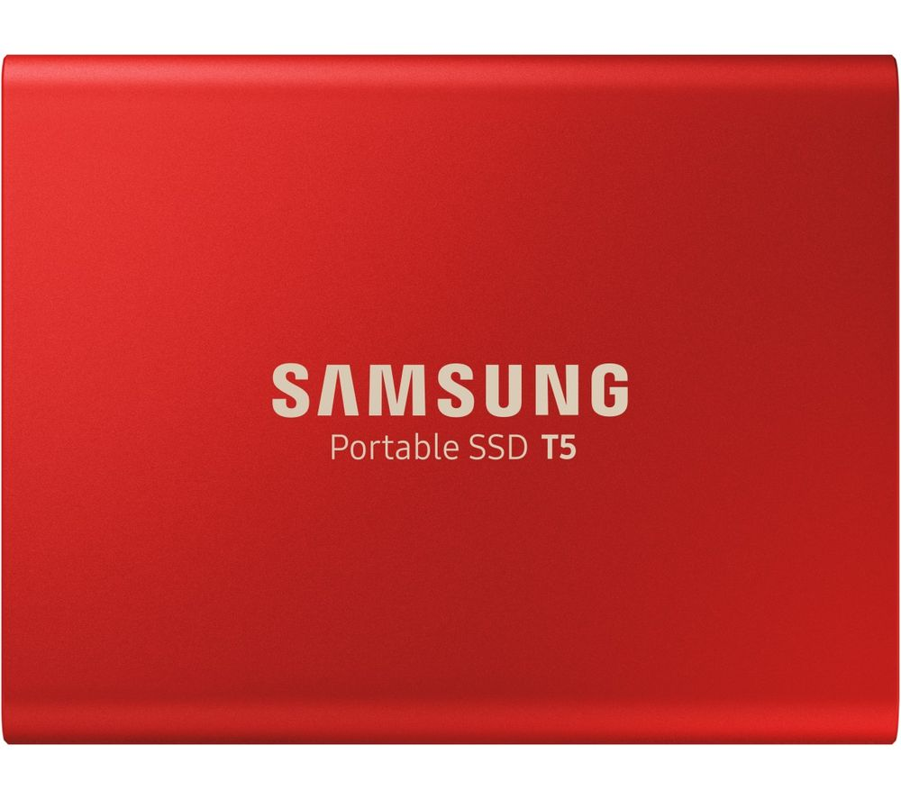 Image of Samsung Portable T5 External SSD hard drive 500 GB Red USB-C™ USB 3.1