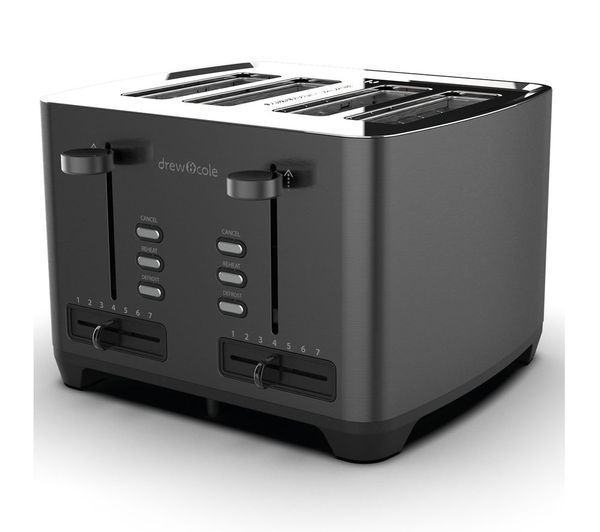 Image of DREW & COLE 4-Slice Toaster - Charcoal