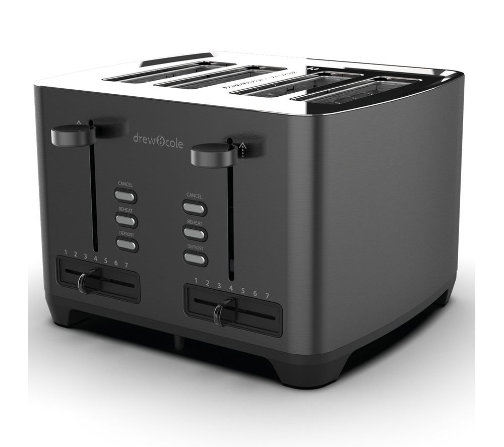 DREW & COLE 4-Slice Toaster - Charcoal
