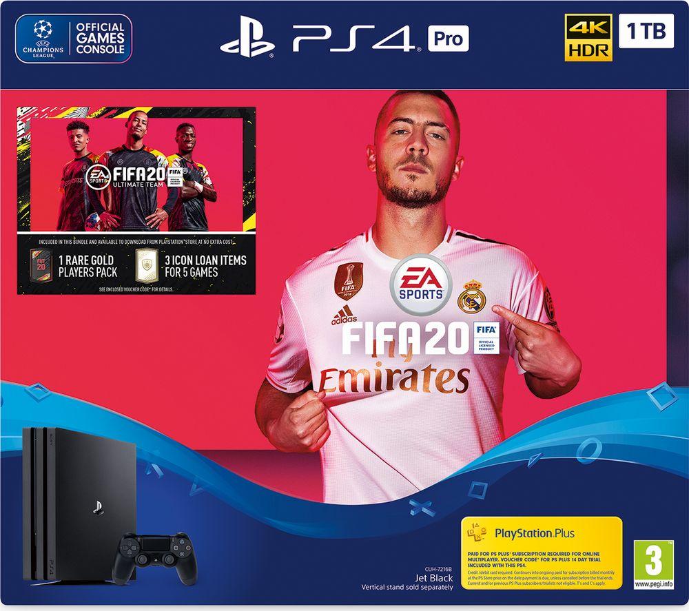 SONY PlayStation 4 Pro with FIFA 20 - 1 TB
