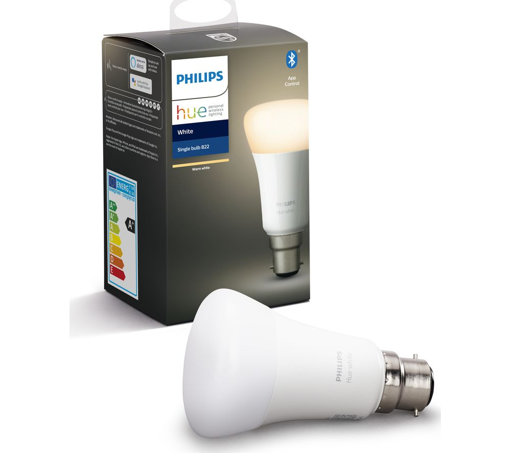 Hue White Bluetooth LED Bulb - B22, White