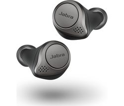 Elite 75t Wireless Bluetooth Noise-Cancelling Earbuds - Titanium Black