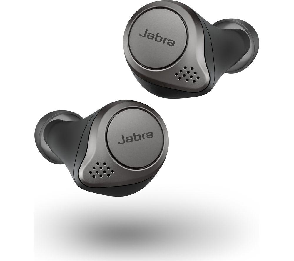 Image of Elite 75t Wireless Bluetooth Earphones - Titanium Black, Titanium