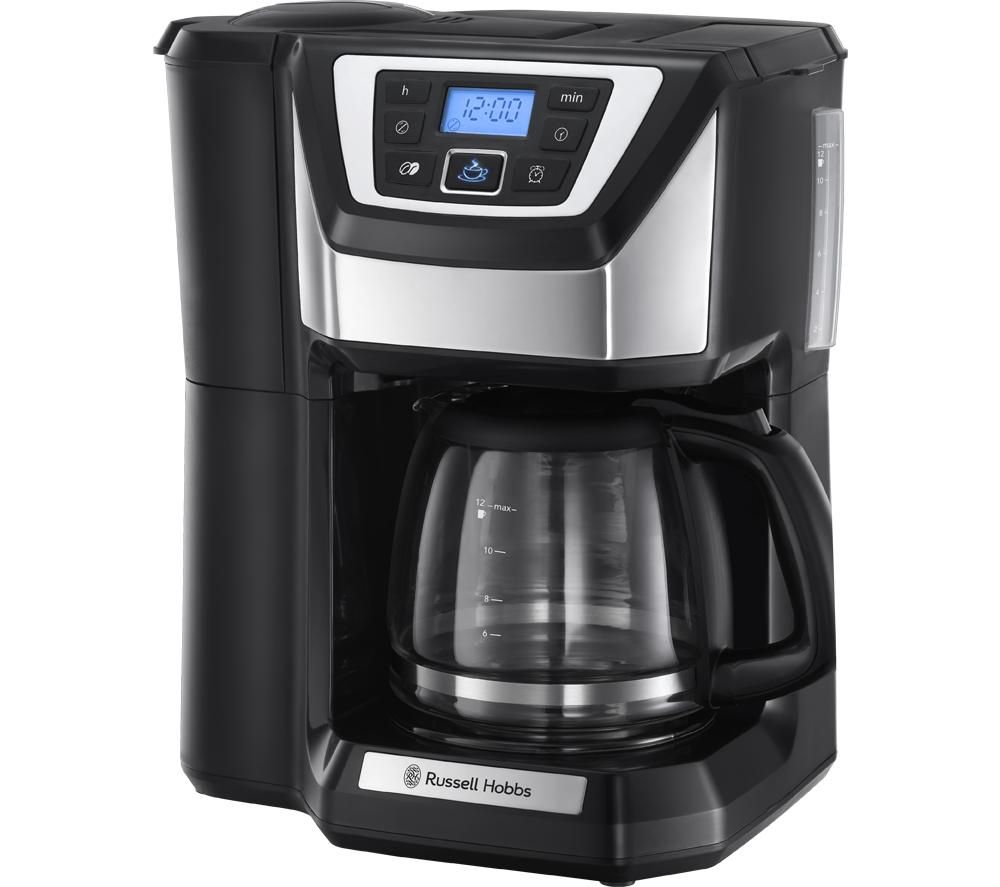 RUSSELL HOBBS Chester 22000 Grind and Brew Bean to Cup Coffee Machine - Black & Silver, Black