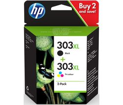 303XL Black & Tri-colour Ink Cartridges - Twin Pack