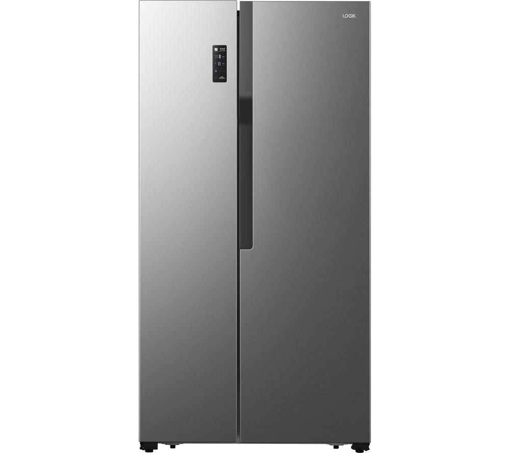 LOGIK LSBSX20 American-Style Fridge Freezer - Inox