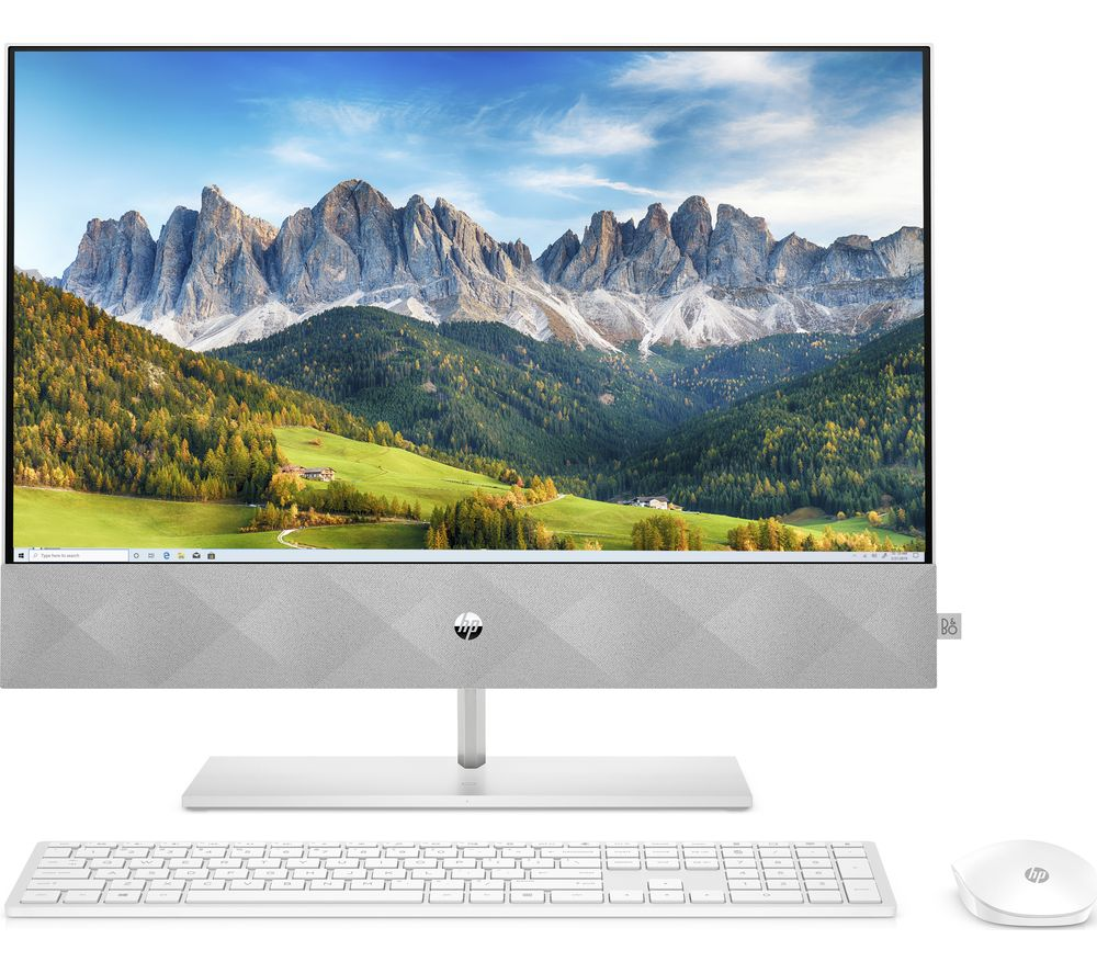 "Image of HP Pavilion 24-k0003na 23.8"" All-in-One PC - AMD Ryzen 5, 512 GB SSD, White"