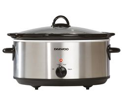 DAEWOO SDA1788 Slow Cooker - Stainless Steel Best Price, Cheapest Prices