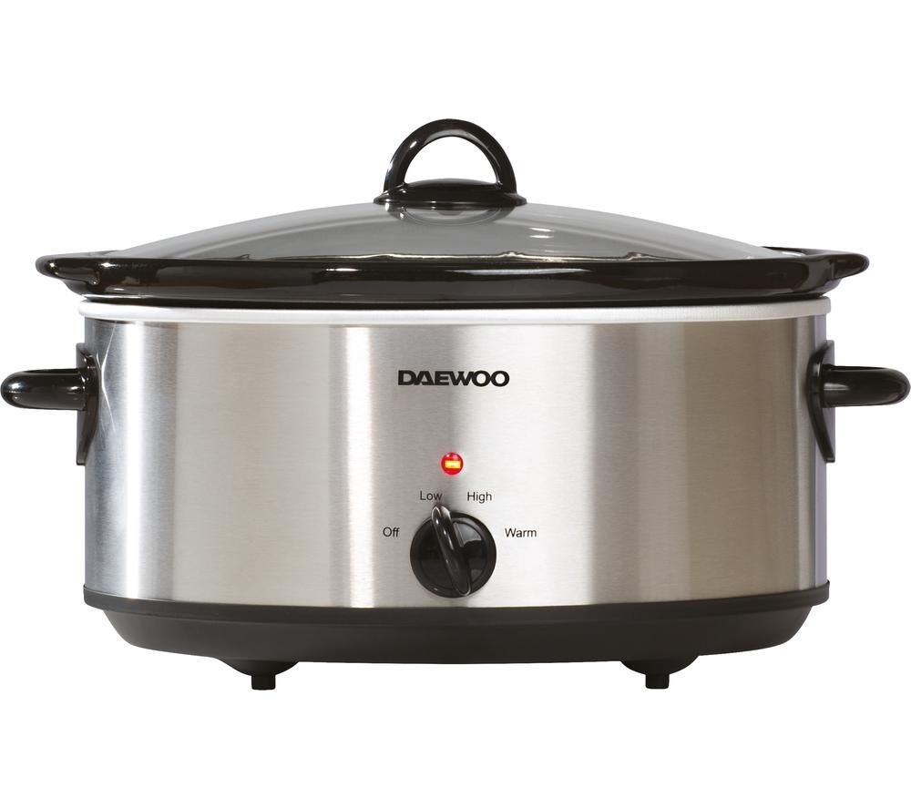DAEWOO SDA1788 Slow Cooker - Stainless Steel