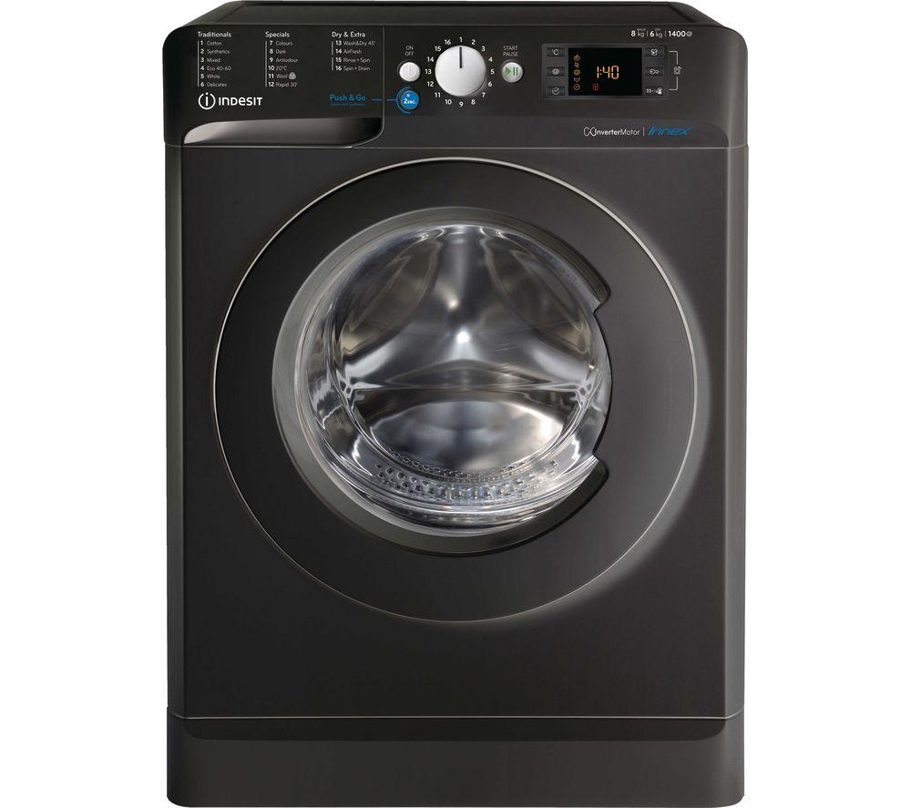 INDESIT Innex BDE 861483X K UK N 8 kg Washer Dryer - Black