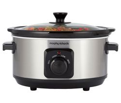 MORPHY RICHARDS 460017 Slow Cooker - Brushed Stainless Steel Best Price, Cheapest Prices
