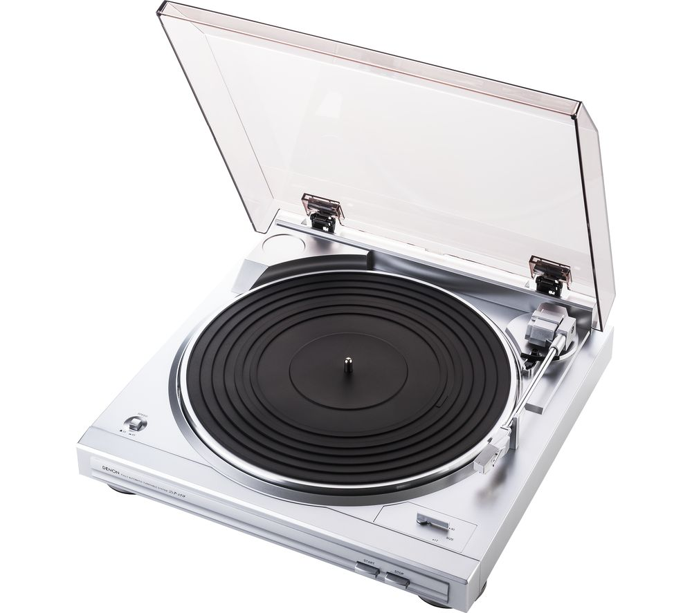 Image of DENON DP-29F Belt Drive Turntable - Silver, Silver
