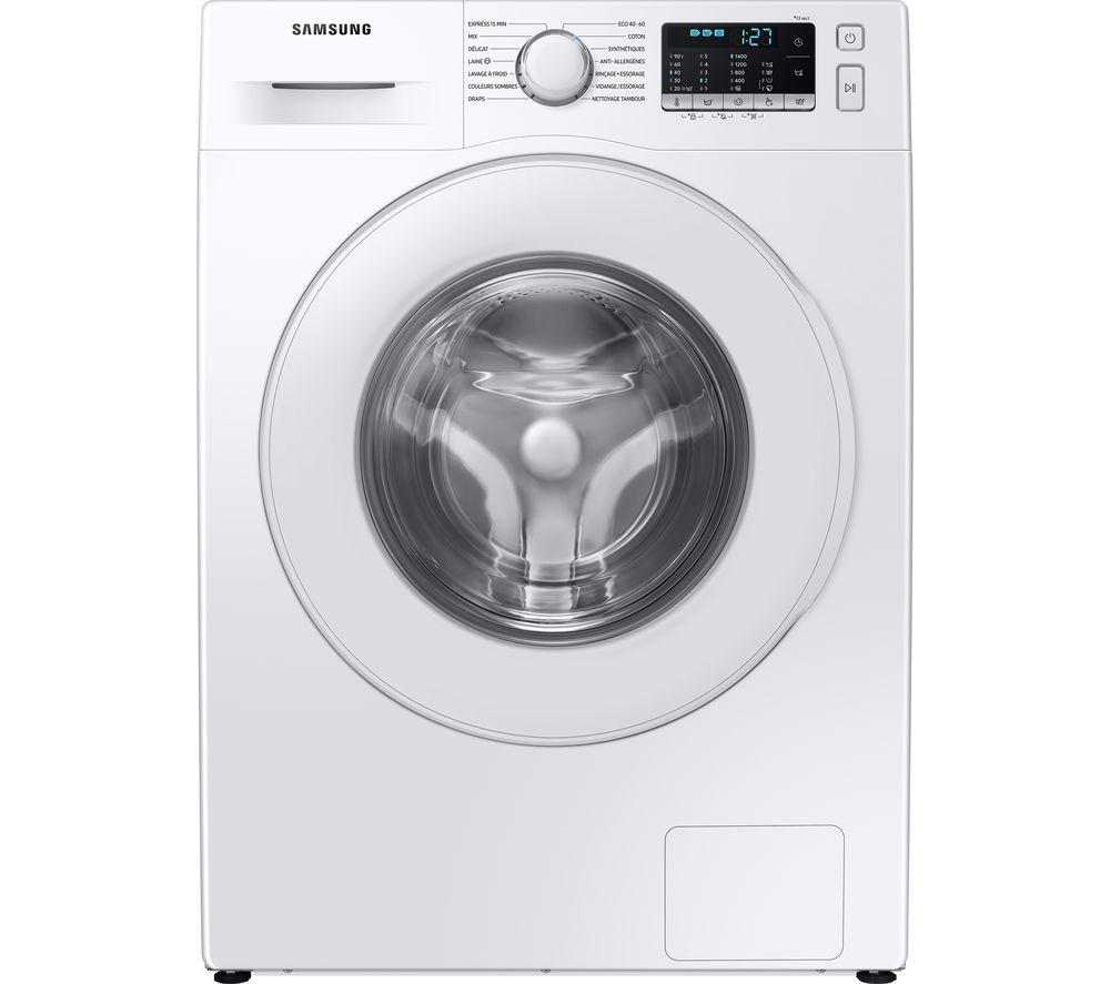 SAMSUNG ecobubble WW70TA046TE/EU 7 kg 1400 Spin Washing Machine - White, White