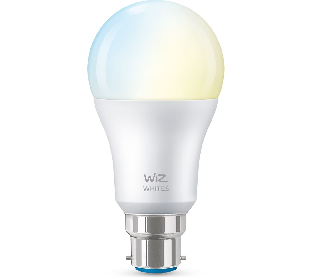 WIZ CONNECTED A60 Tunable White Smart Light Bulb - B22, White