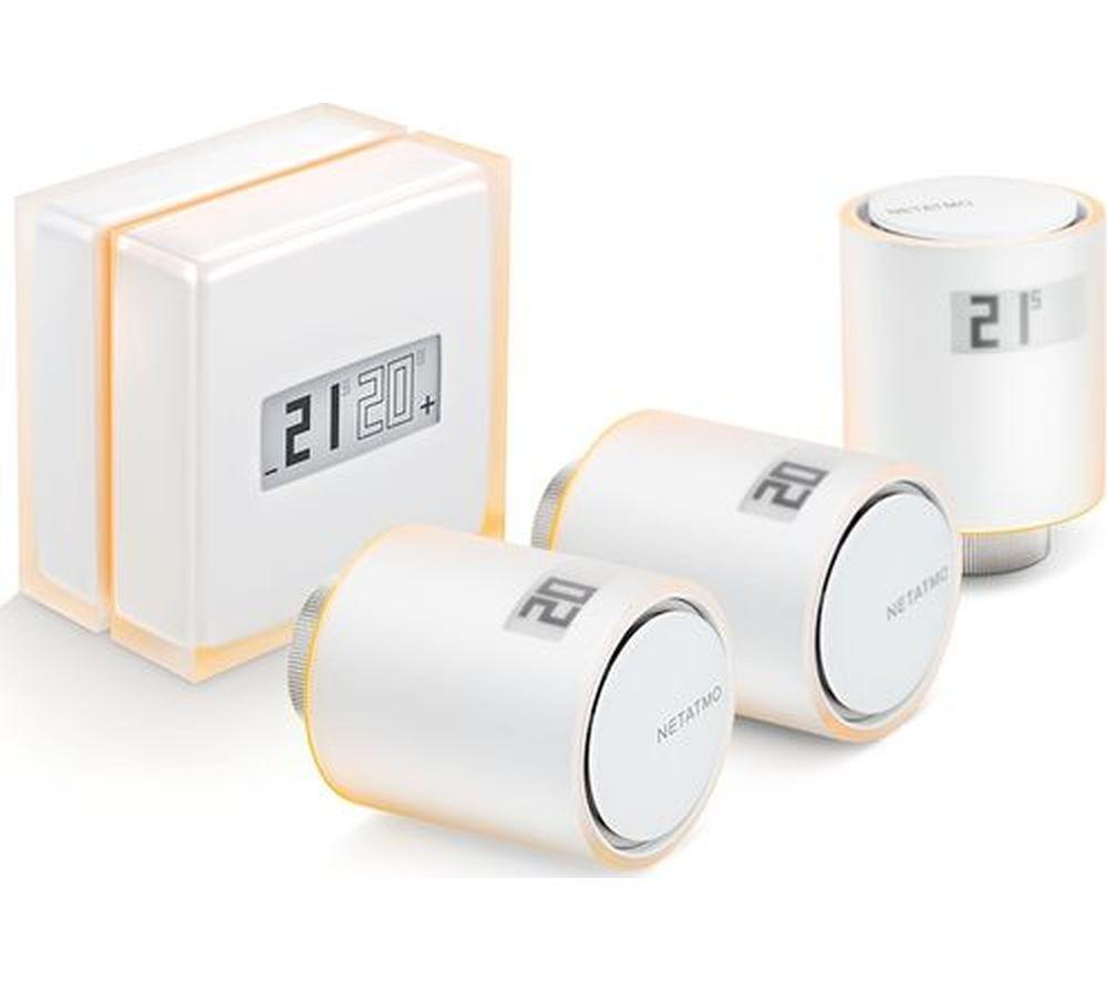 NETATMO NBU-NTH-NAV Smart Thermostat with 3 Radiator Valves