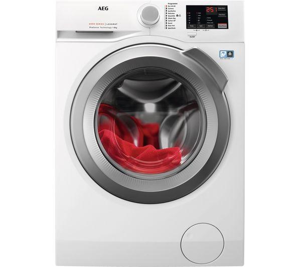AEG ProSense L6FBJ842P 8 kg 1400 Spin Washing Machine - White