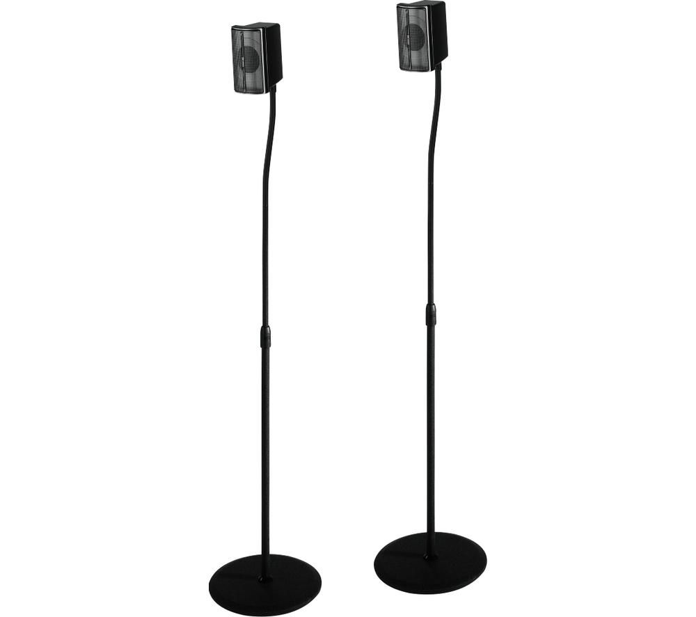 HAMA 00116211 Speaker Stand - Pack of 2, Black, Black
