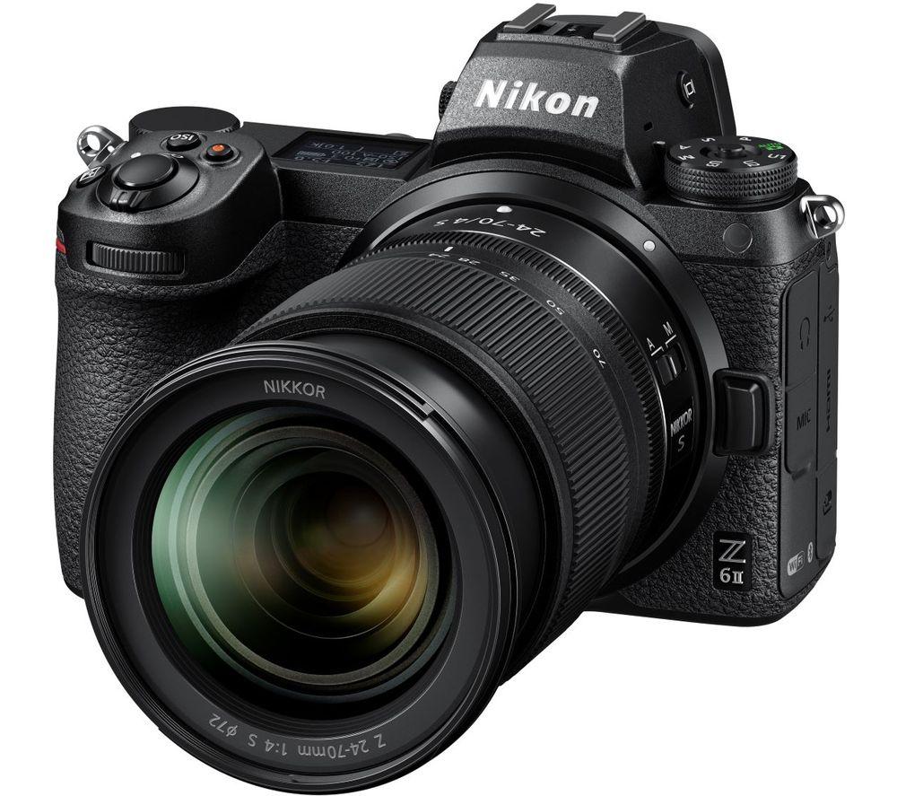 NIKON Z 6II Mirrorless Camera with NIKKOR Z 24-70 mm f/4 S Lens - Black