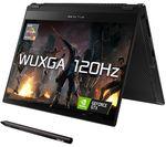 £1499, ASUS ROG Flow X13 13.4inch Gaming Laptop - AMD Ryzen 9, RTX 3050 Ti, 1 TB SSD, AMD Ryzen 9 5900HS Processor, RAM: 16GB / Storage: 1 TB SSD, Graphics: NVIDIA GeForce RTX 3050 Ti 4GB, Full HD screen / 120 Hz, Battery life:Up to 4 hours,