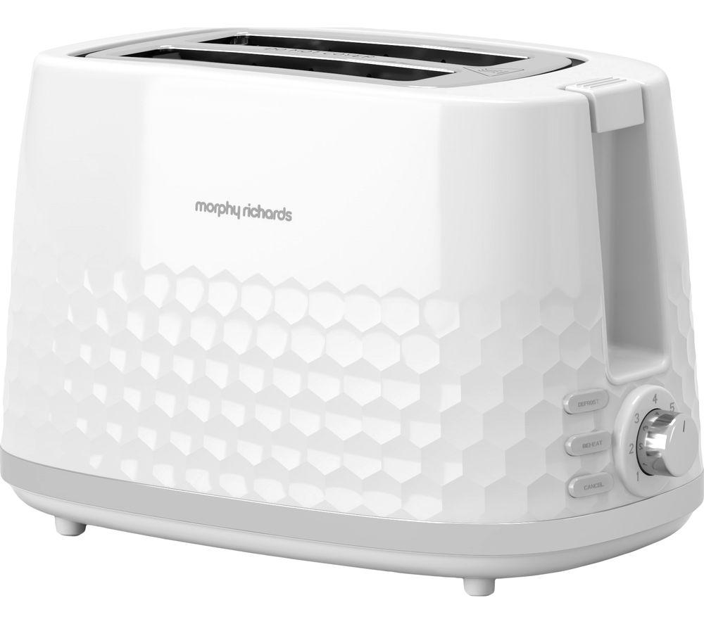 MORPHY RICHARDS Hive 220034 2-Slice Toaster - White