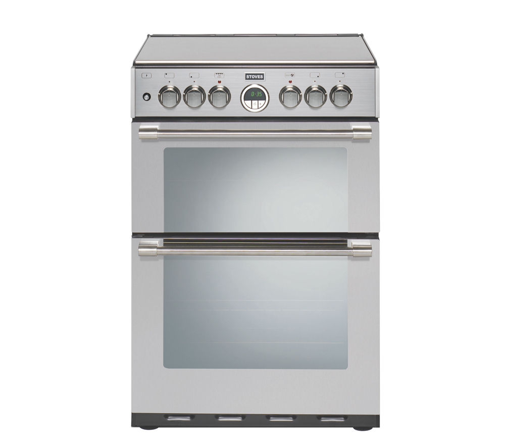 STOVES Sterling 600DF Dual Fuel Cooker - Stainless Steel