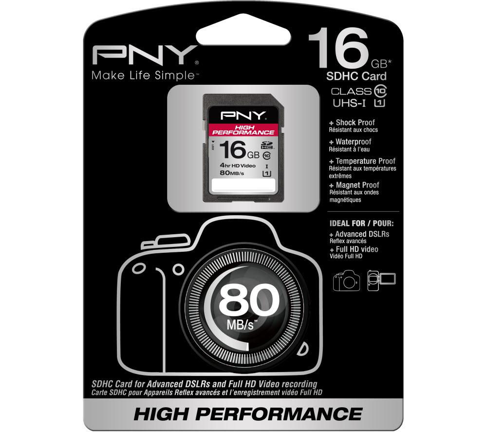 PNY High Performance Class 10 SDHC Memory Card - 16 GB