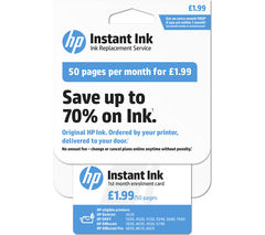 HP Instant Ink Enrollment card - 50 pages per month