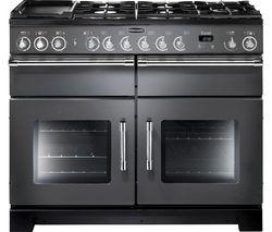 RANGEMASTER Excel 110 Dual Fuel Range Cooker - Slate & Chrome