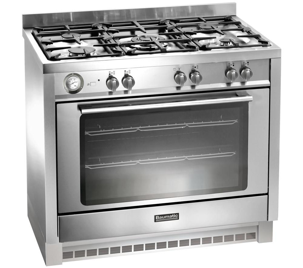 buy baumatic bcg905ss gas range cooker stainless steel. Black Bedroom Furniture Sets. Home Design Ideas