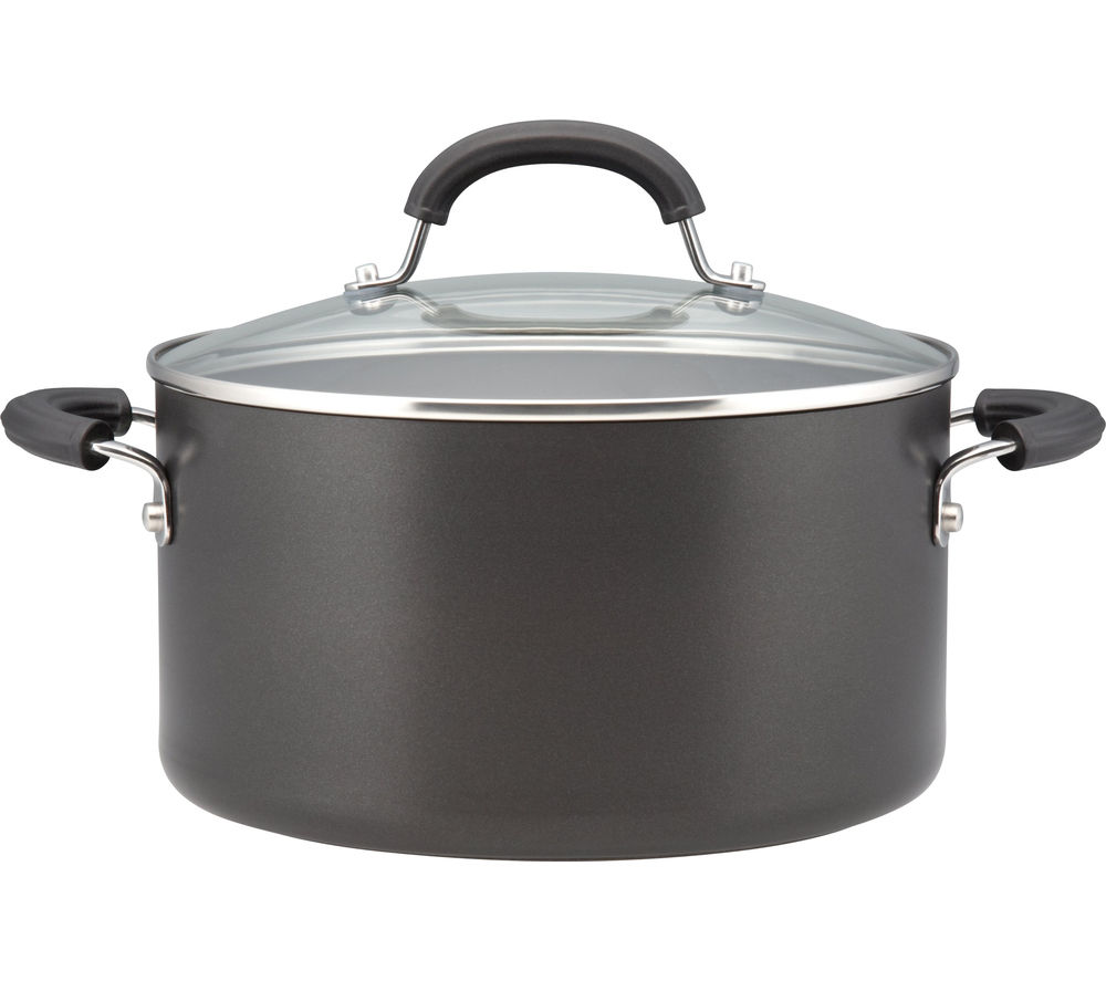 CIRCULON Origins 24 cm Non-stick Stock Pot - Black