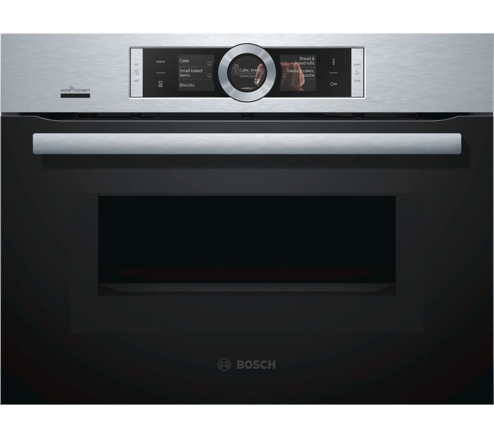 BOSCH Serie 8 CMG676BS6B Built-in Smart Combination Microwave - Stainless Steel