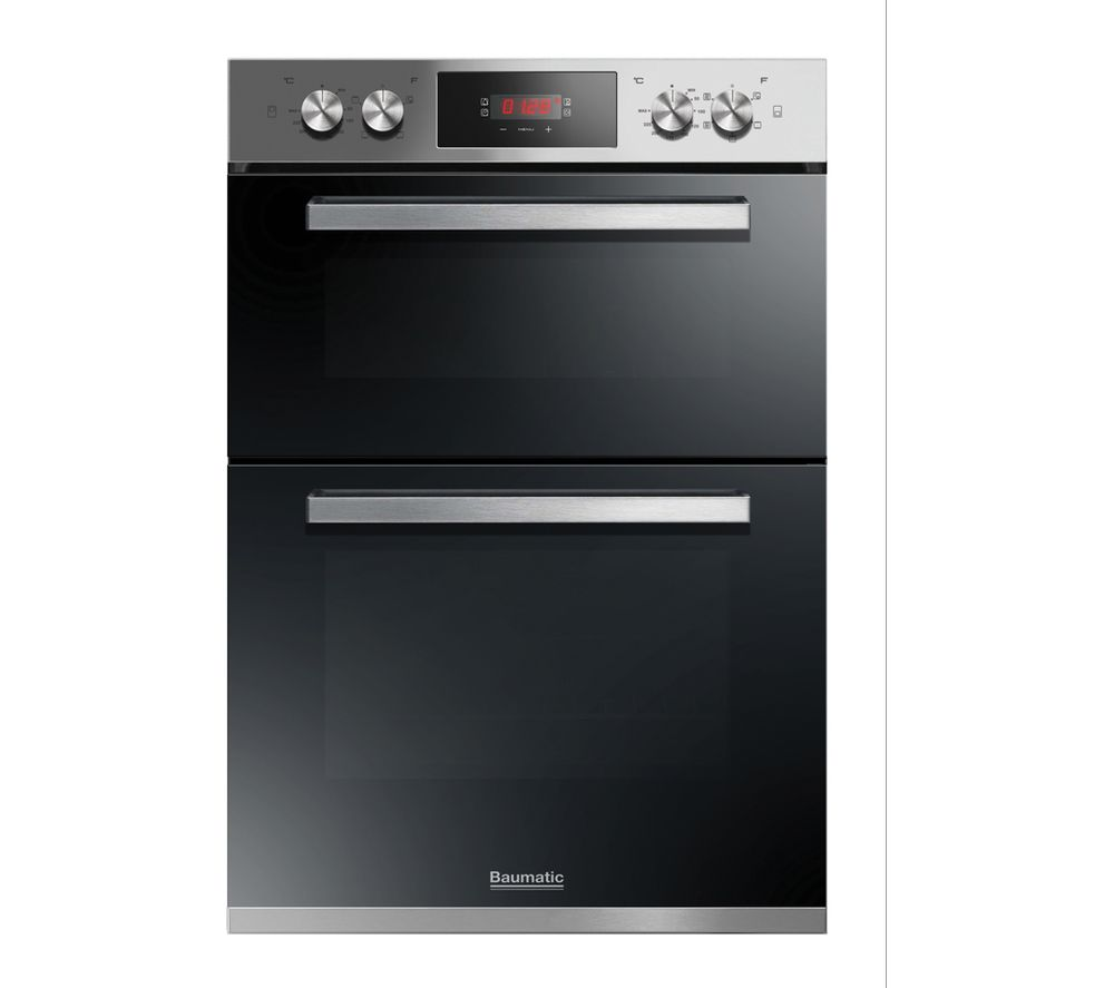 BAUMATIC BODM984X Electric Double Oven - Stainless Steel