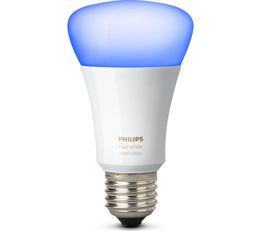 PHILIPS Hue White & Colour Smart Wireless Bulb - E27 + Hue Smart LightStrip  Plus Starter Kit - 2 m