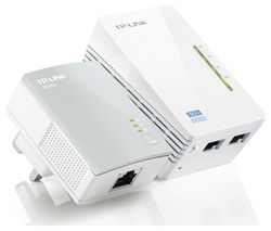 TP-LINK WPA4220 WiFi Powerline Adapter Kit - AV600, Twin Pack