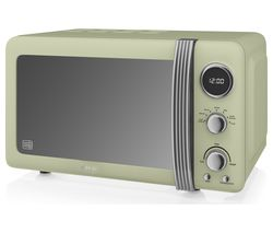 SWAN Retro SM22030GN Solo Microwave - Green Best Price, Cheapest Prices
