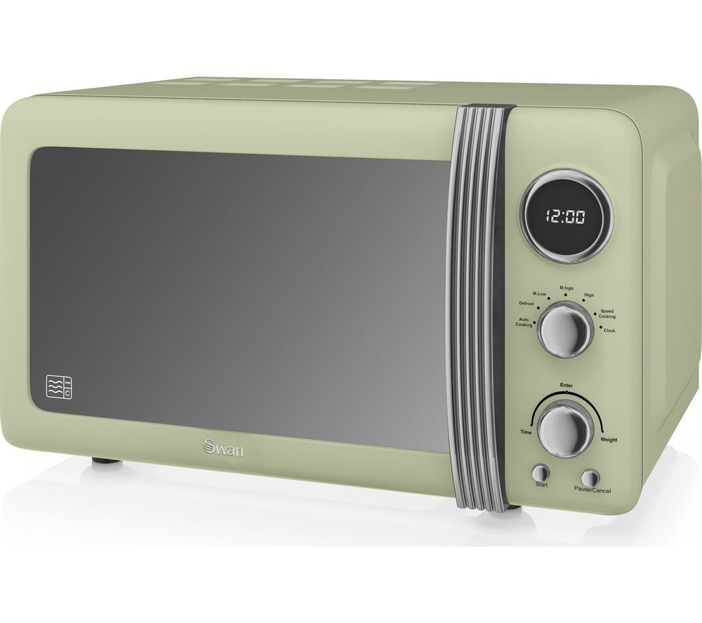Buy Swan Retro Sm22030gn Solo Microwave Green Free