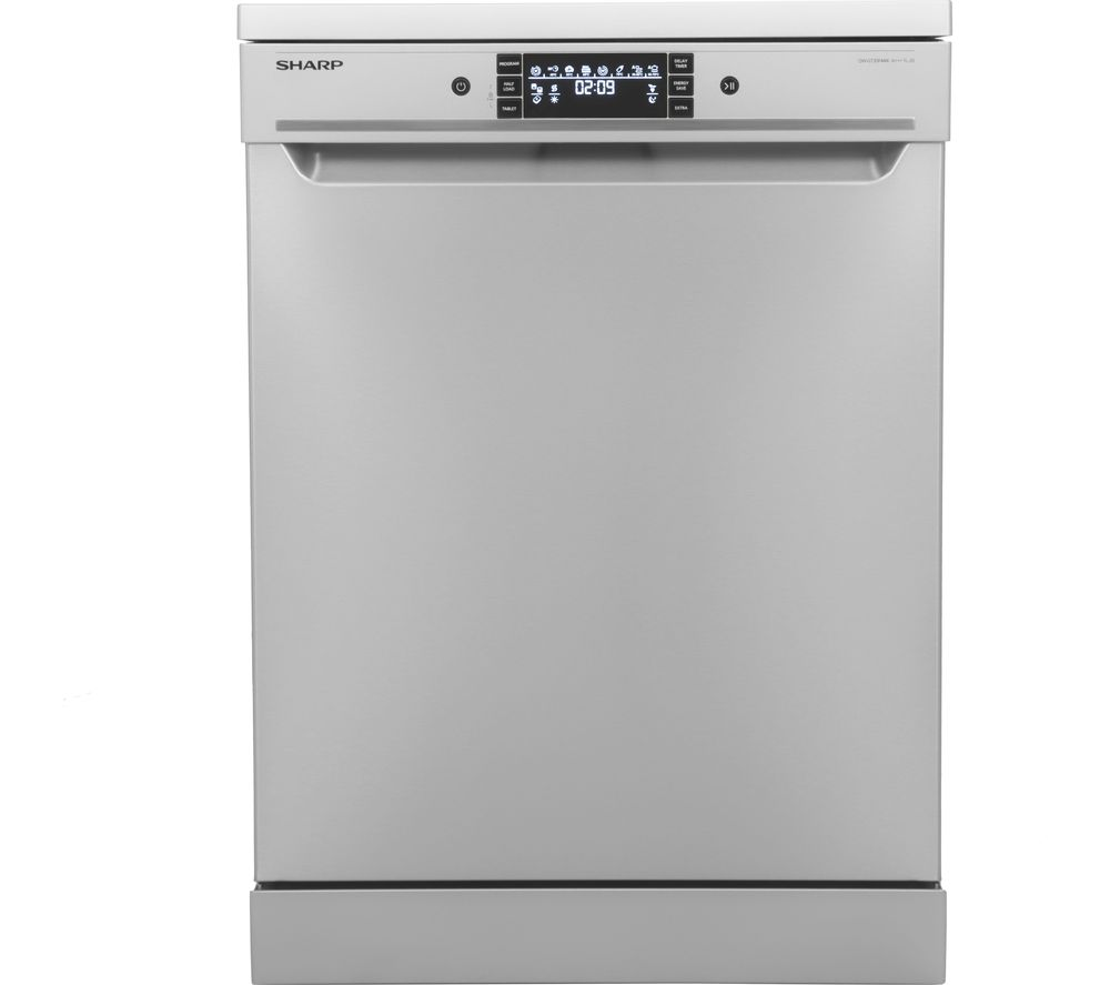 SHARP QW-GT35F444I Full-size Dishwasher - Stainless Steel