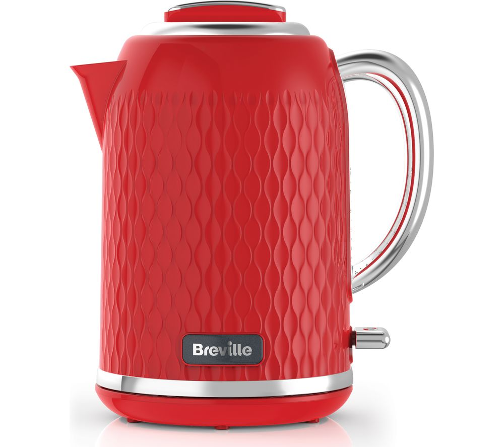 BREVILLE Curve VKT119 Jug Kettle - Red + Curve VTT914 4-Slice Toaster - Red