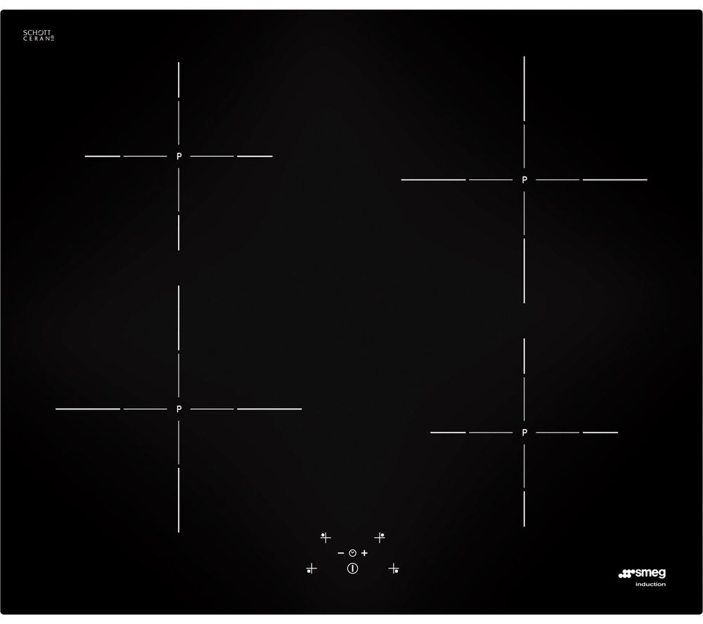SMEG SI5643D Electric Induction Hob - Black