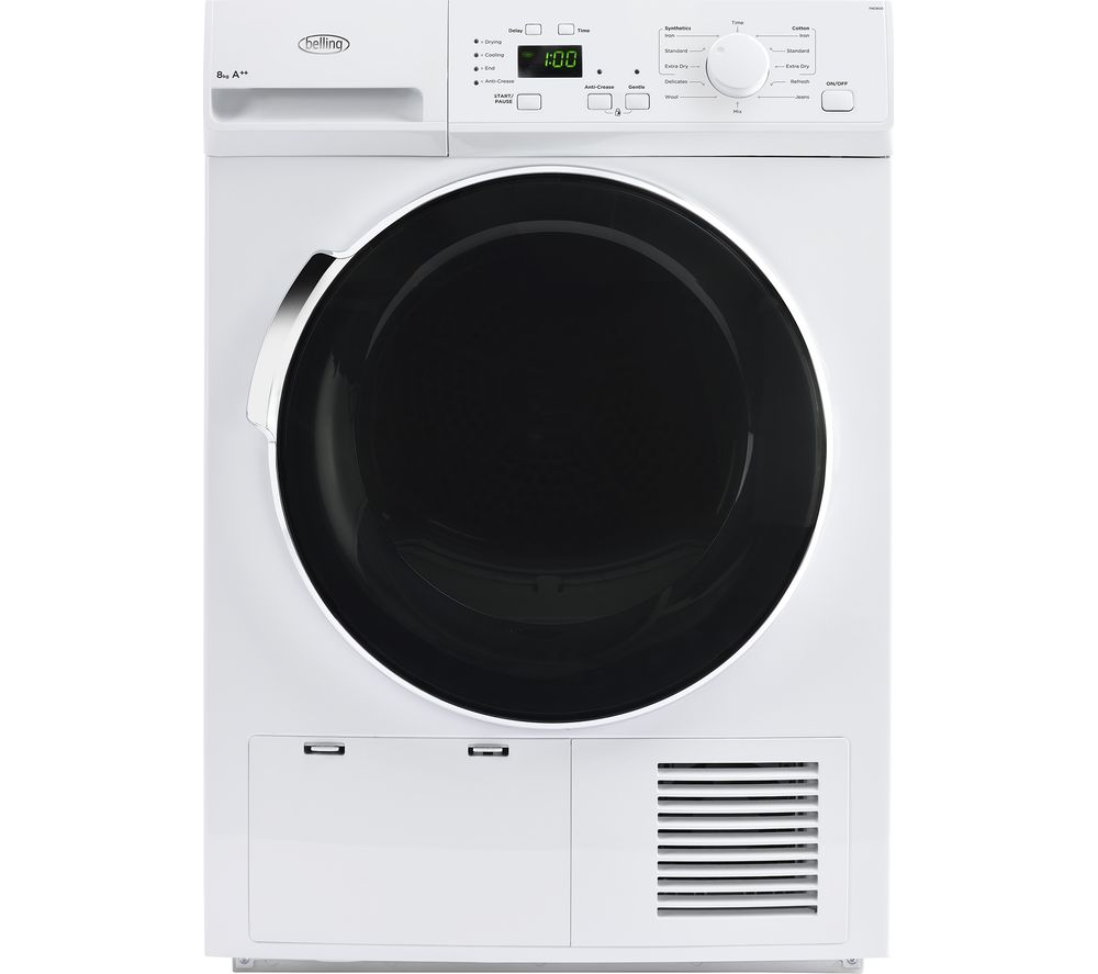 Compare retail prices of Belling BEL FHD800 Heat Pump Tumble Dryer to get the best deal online