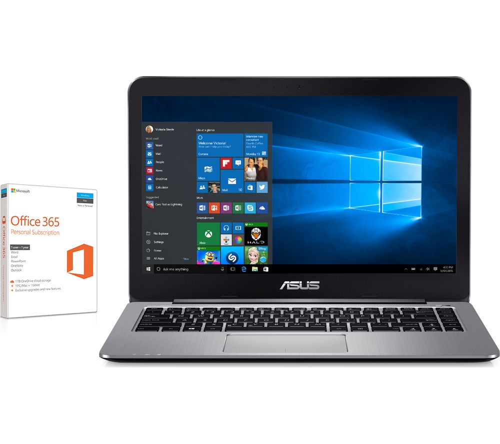 "ASUS VivoBook L403 14"" Laptop - Grey + Office 365 Personal"