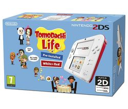 NINTENDO 2DS & Tomodachi Life - Red & White