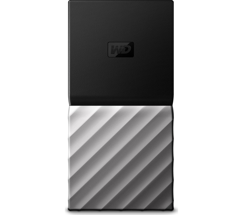 WD My Passport External SSD - 256 GB, Black & Silver
