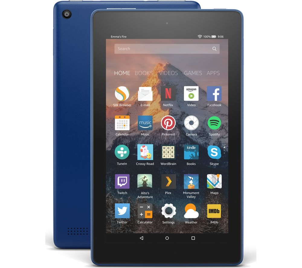 AMAZON Fire 7 Tablet with Alexa (2017) - 8 GB, Marine Blue