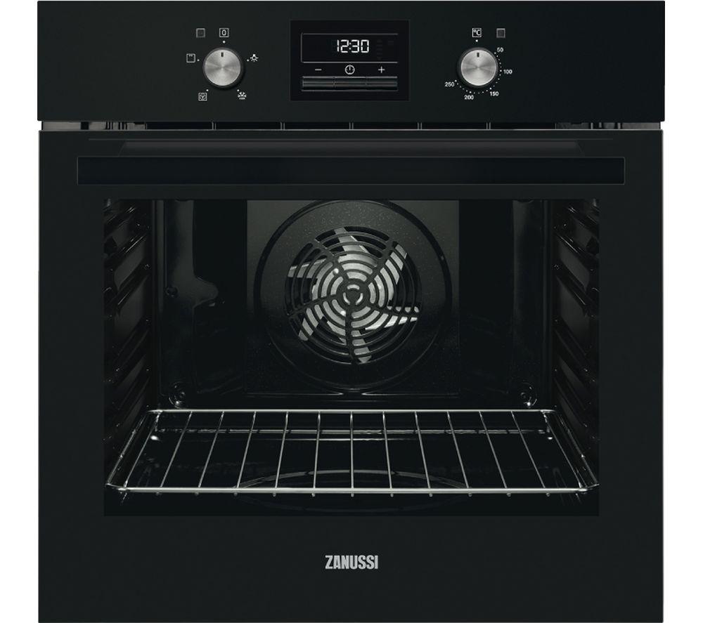 ZANUSSI ZOB35471BK Electric Oven - Black Steel, Black
