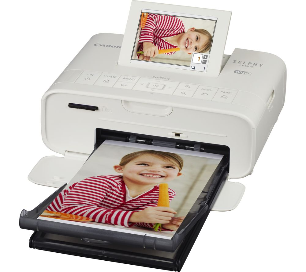 Canon Selphy Cp1300 Wireless Photo Printer White Deals Pc World