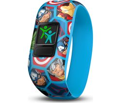 GARMIN vivofit jr 2 Kid's Activity Tracker - Marvel Avengers, Stretchy Band