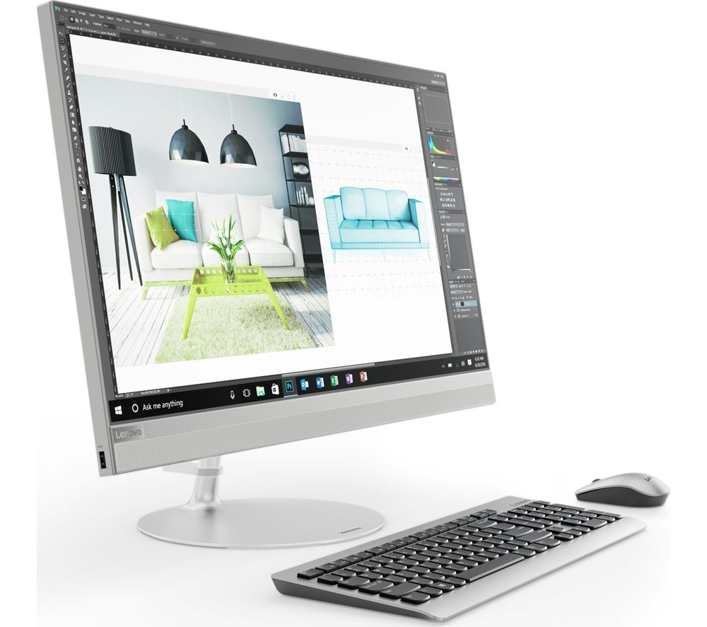 Compare retail prices of Lenovo IdeaCentre 520-27IKL 27 Inch QHD All-in-One PC - Silver to get the best deal online