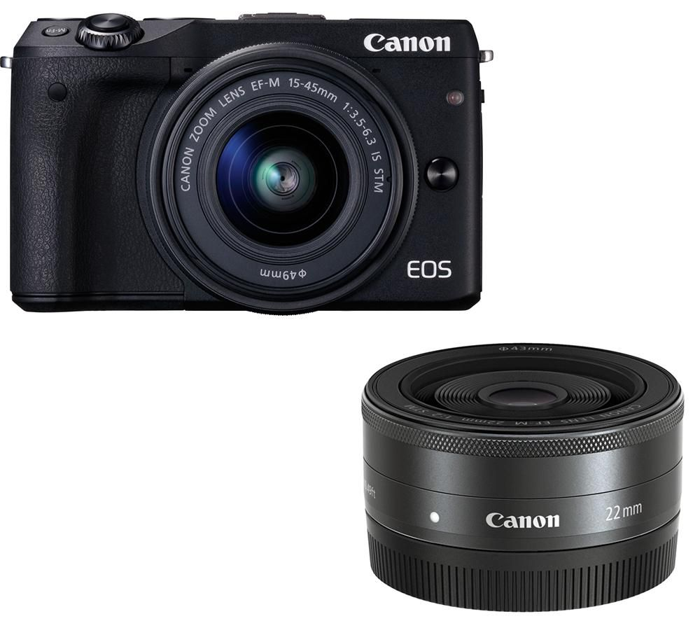 CANON EOS M3 Mirrorless Camera & Twin Lens Bundle
